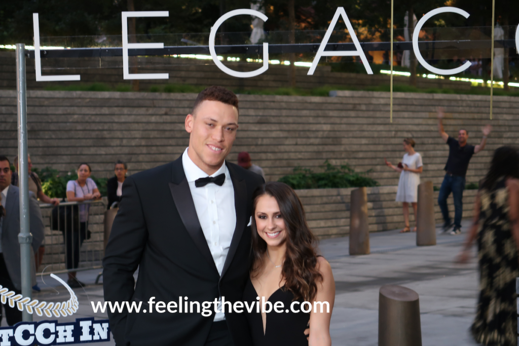Aaron Judge arrives at the CC Sabathia Pitcchin Foundation Gala in NYC on September 16, 2019