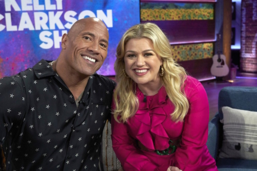 Dwayne 'The Rock' Johnson and Kelly Clarkson on 'The Kelly Clarkson Show'