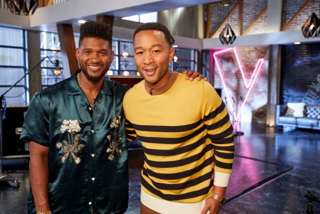 Usher and John Legend on 'The Voice'