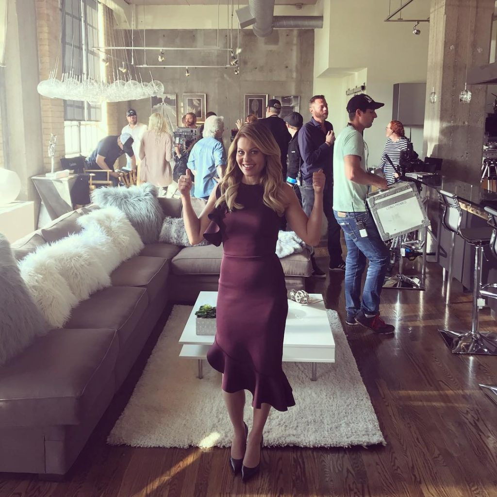 Candace Cameron Dress on Switched for Christmas