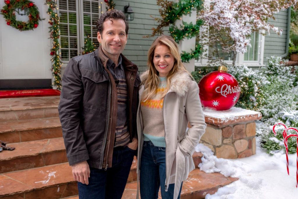Candace Cameron Bure Switched for Christmas, Taupe Coat and Jeans