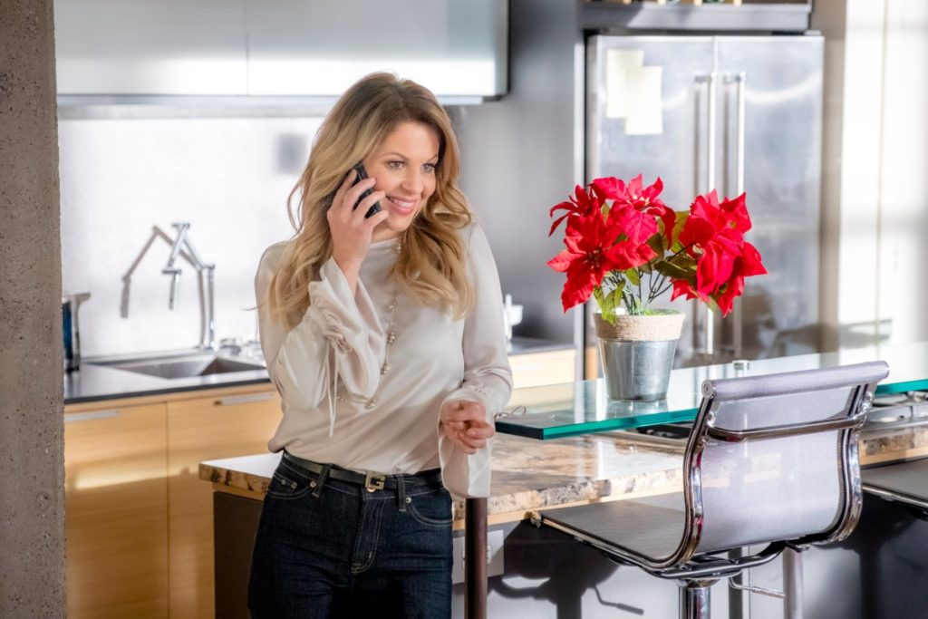 Candace Cameron Bure Switched for Christmas, Bell Sleeve Top and Jeans