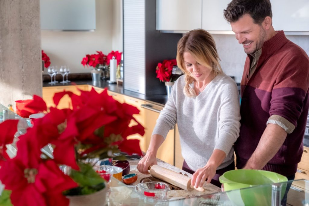 Candace Cameron Bure Switched for Christmas, Gray Sweater
