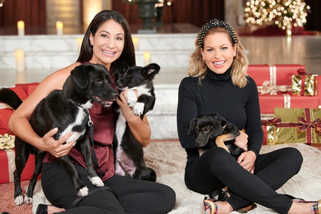 Candace Cameron Bure and Larissa Wohl for the Hallmark Movie 'Miracles of Christmas' Special 2019 - Clothing.