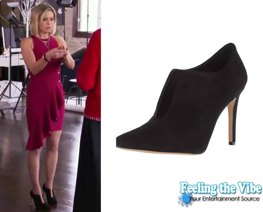 Candace Cameron Bure Black shoes in A Shoe Addict's Christmas