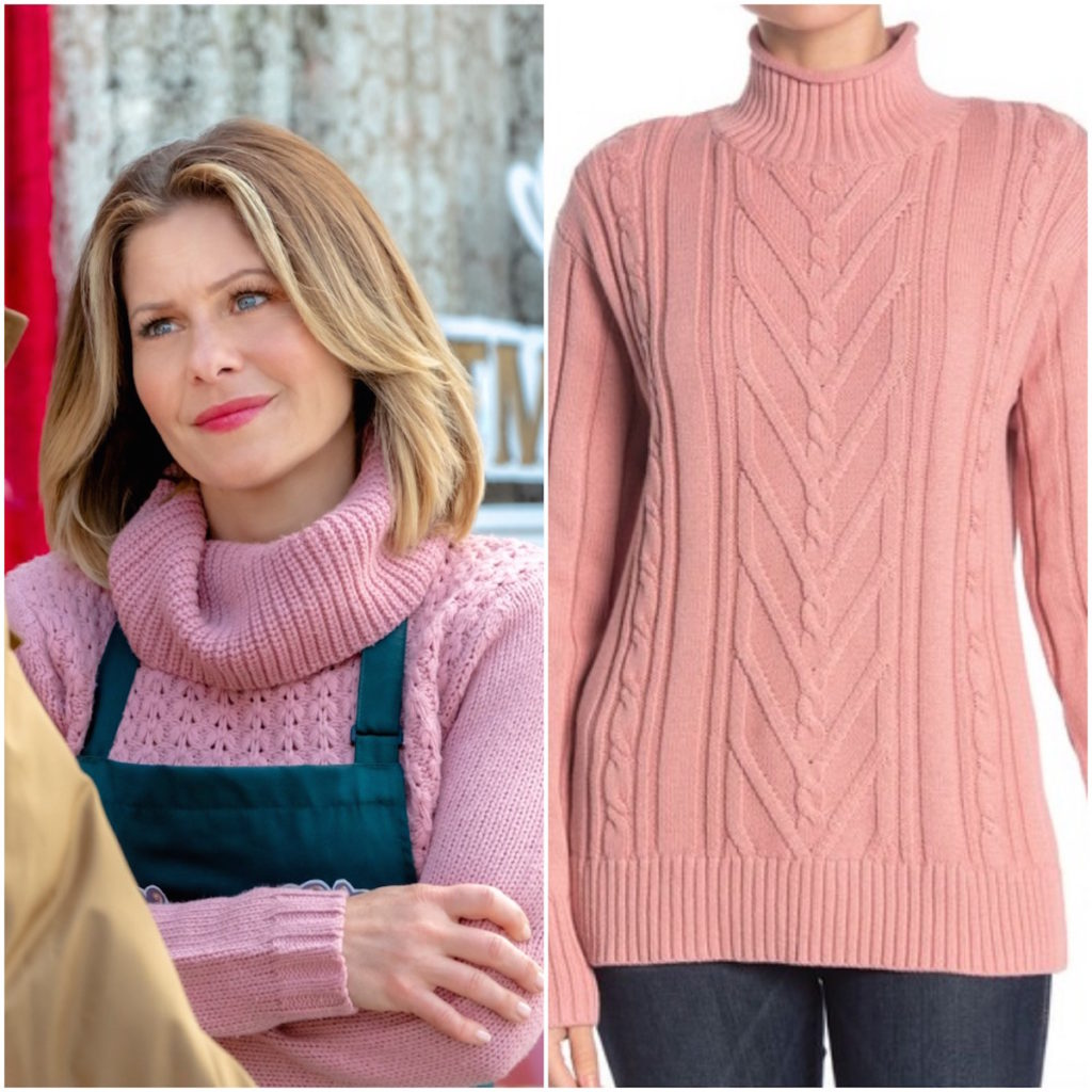 Candace Cameron Bure, 'Christmas Town' Pink Sweater