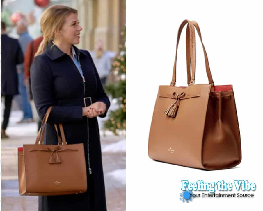 Jodie Sweetin's brown purse bag from Merry & Bright on Hallmark Channel