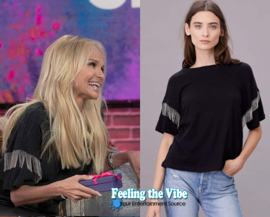 Kristin Chenoweth's shirt from the Kelly Clarkson Show on October 5, 2019