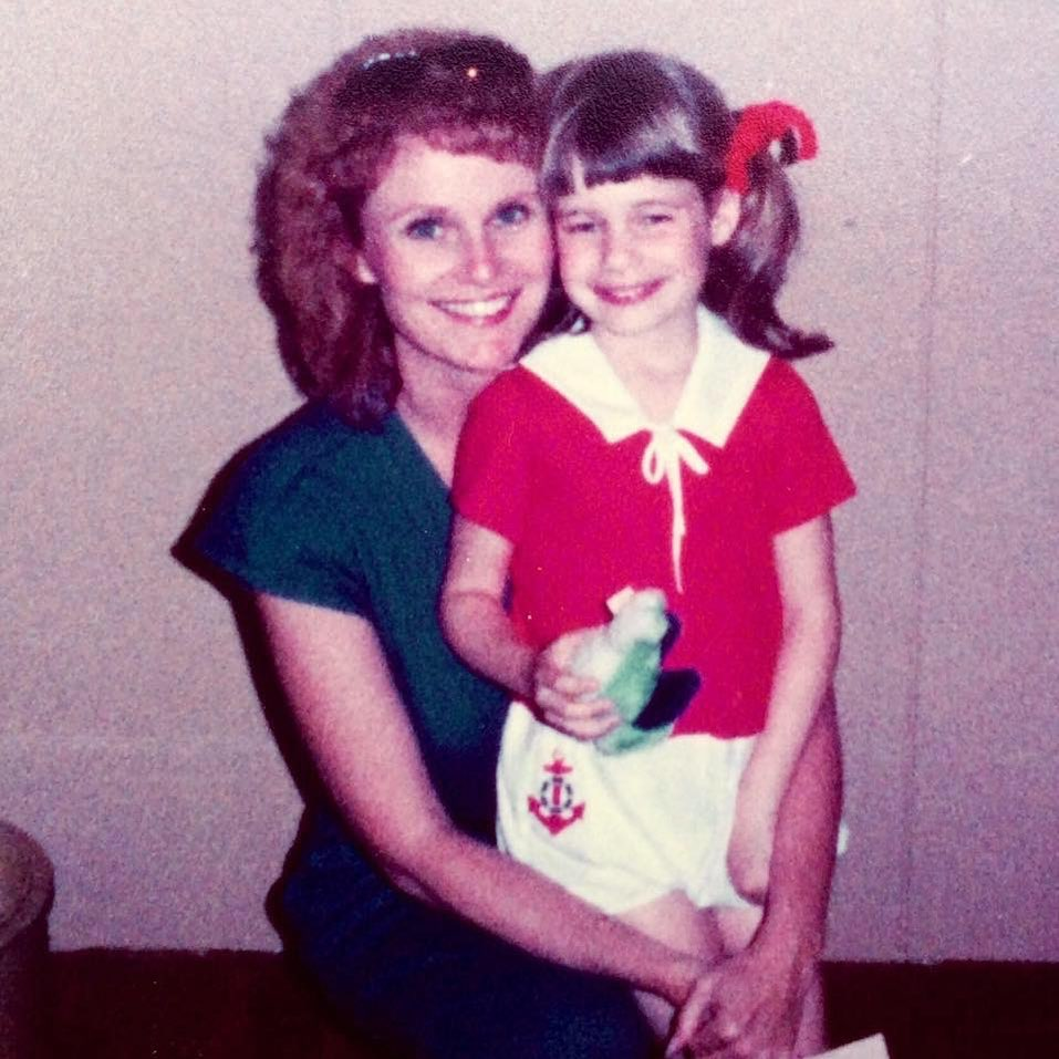 Andrea Barber with her mother photo