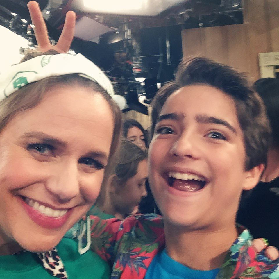 Andrea Barber and Elias Harger from Fuller House Season 5