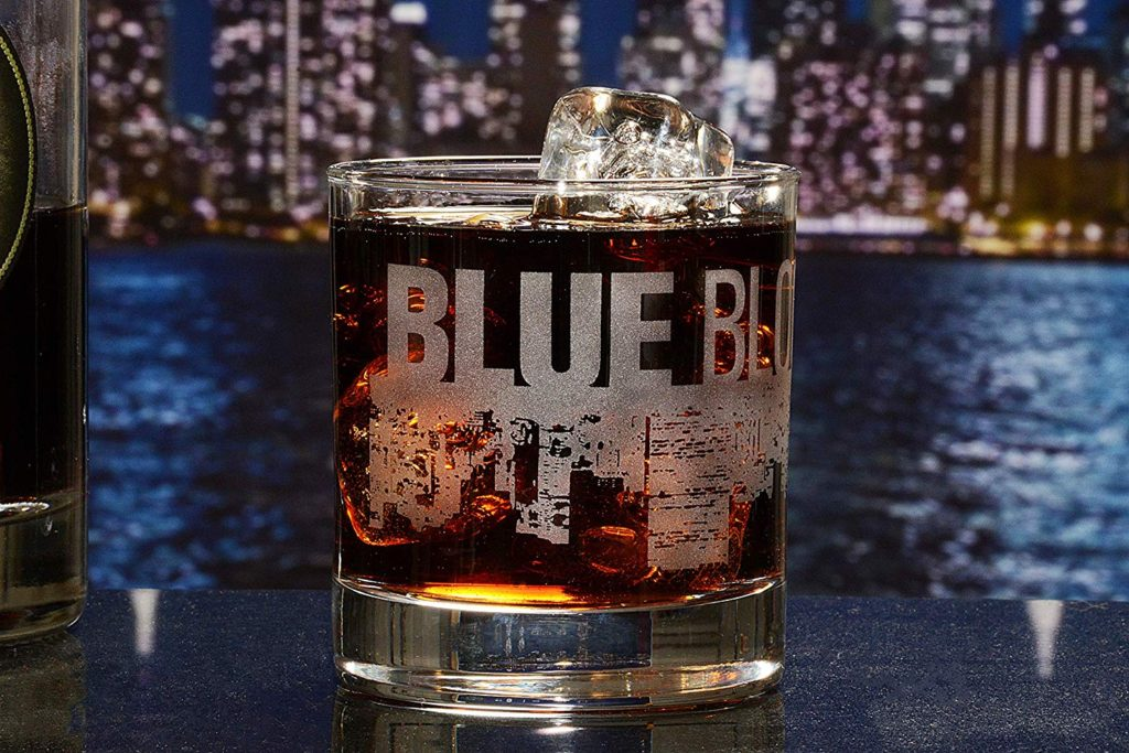 Blue Bloods Whiskey Glass