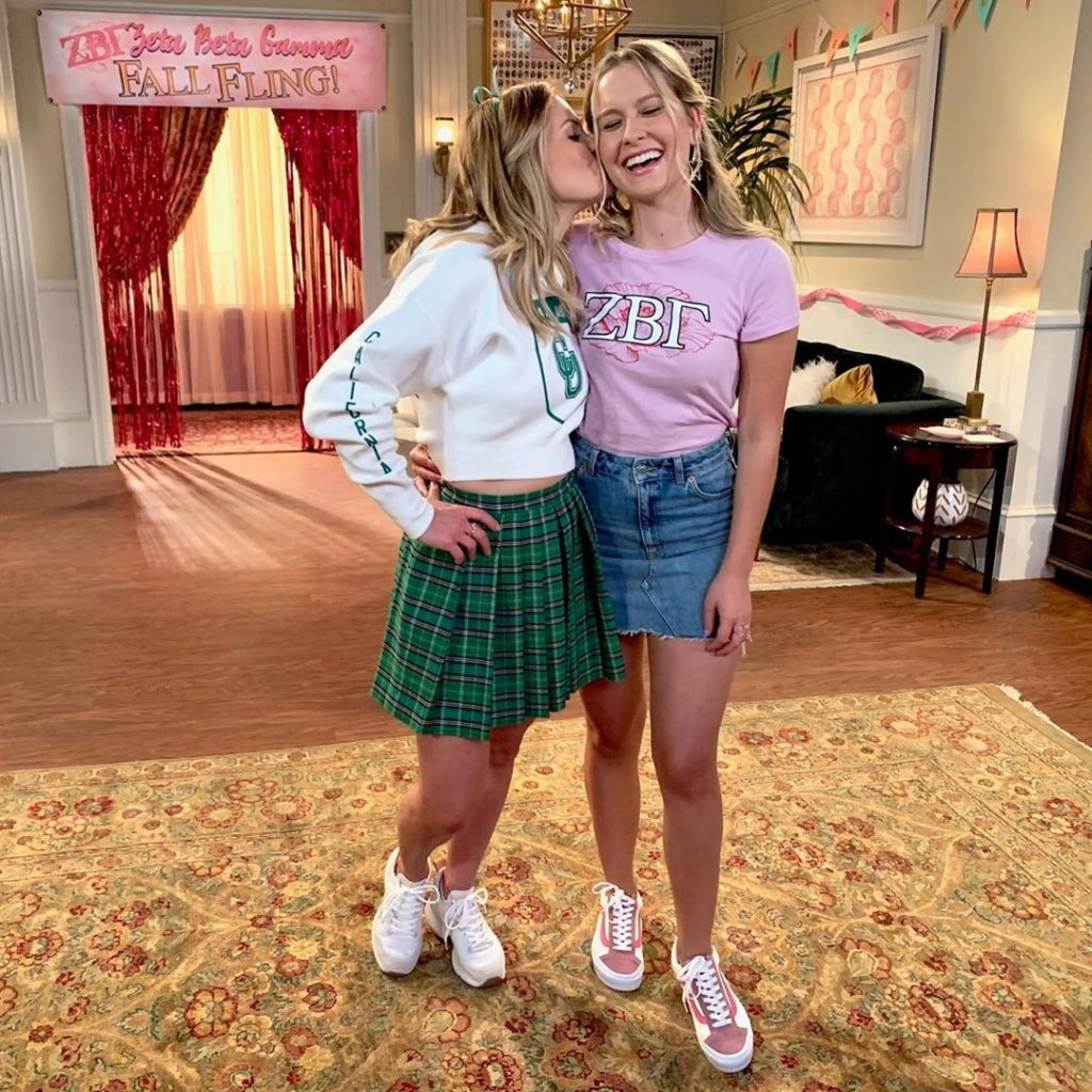 Candace Cameron Bure and Daughter Natasha filming Season 5 of Fuller House