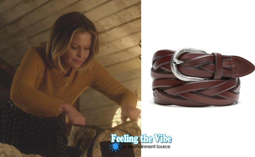 Candace Cameron brown belt in Christmas Town on Hallmark Channel