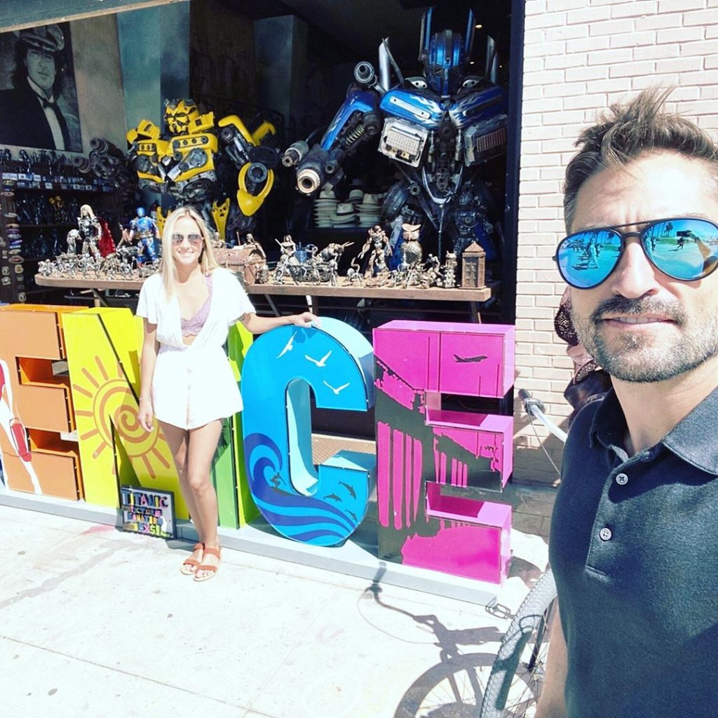 Dr Buck Parker and Nicole from The Proposal in Venice, California