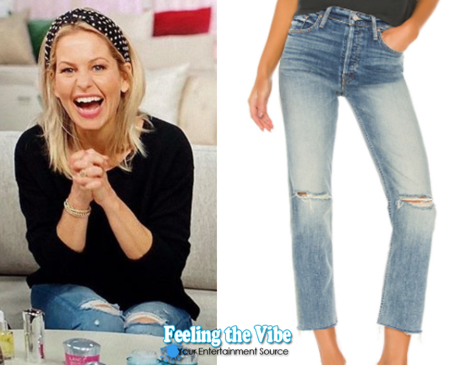 Candace Cameron Bure Mother Denim Ripped Jeans from QVC