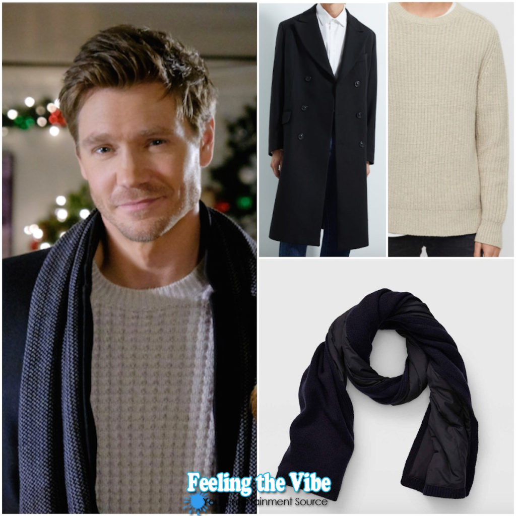 CHAD MICHAEL MURRAY: SWEATER, JACKET, SCARF