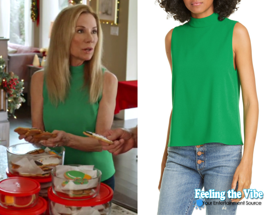 Kathie Lee Gifford green sleeveless shirt in A Godwink Christmas