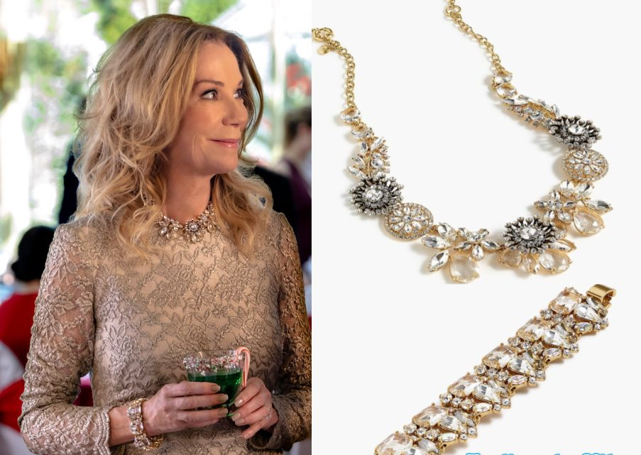 Kathie Lee Gifford's necklace and bracelet in A Godwink Christmas Movie