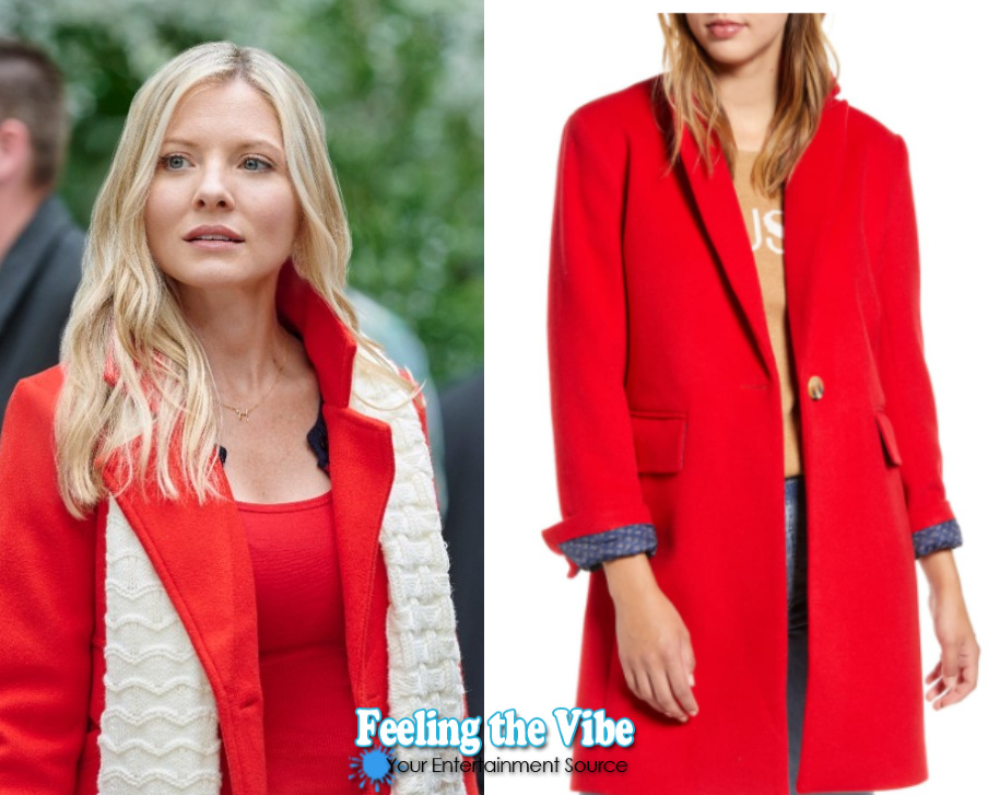 Red coat in Hallmark Channel's Christmas at Graceland