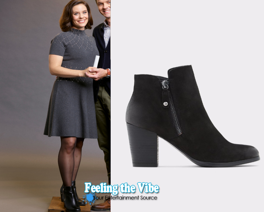 Ashley Williams black bootie in Hallmark Channel's Holiday Hearts