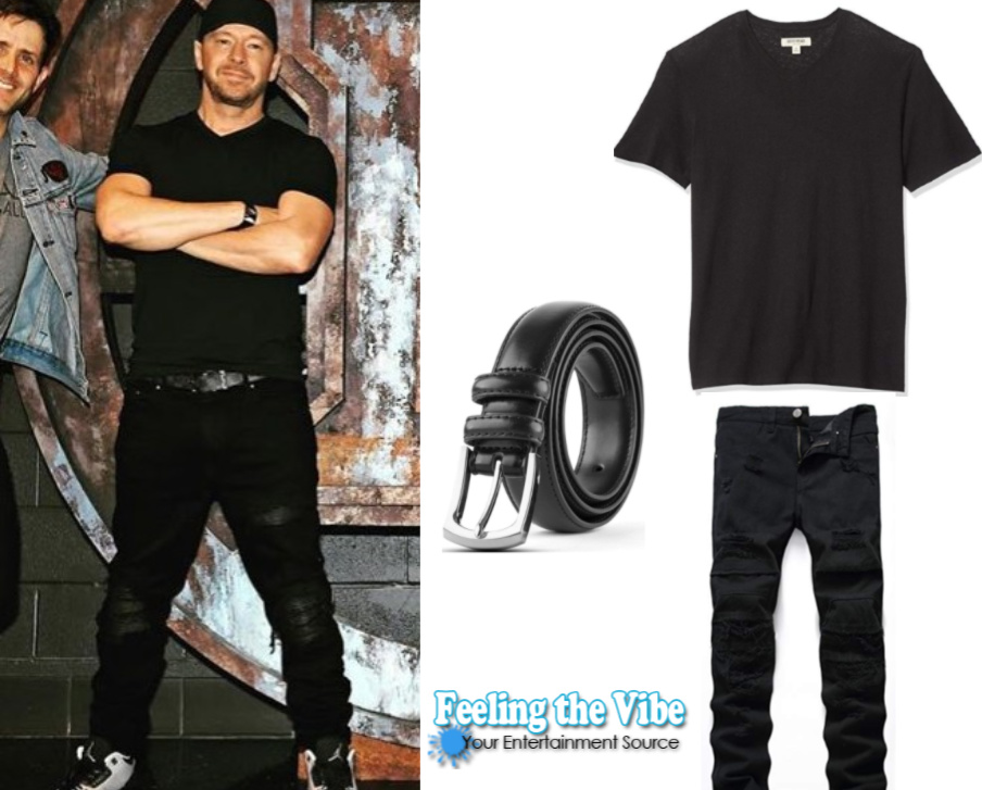Donnie Wahlberg's all black outfit