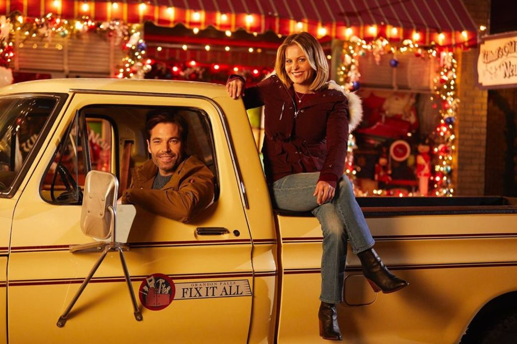 Candace Cameron Bure and Tim Rozon in 'Christmas Town'