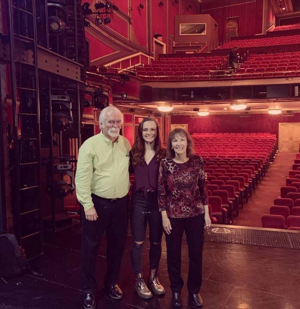 Jennifer Noble with her parents