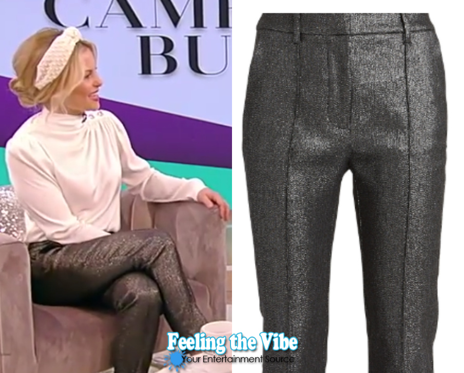 Candace Cameron's silver trousers from the Tamron Hall Show