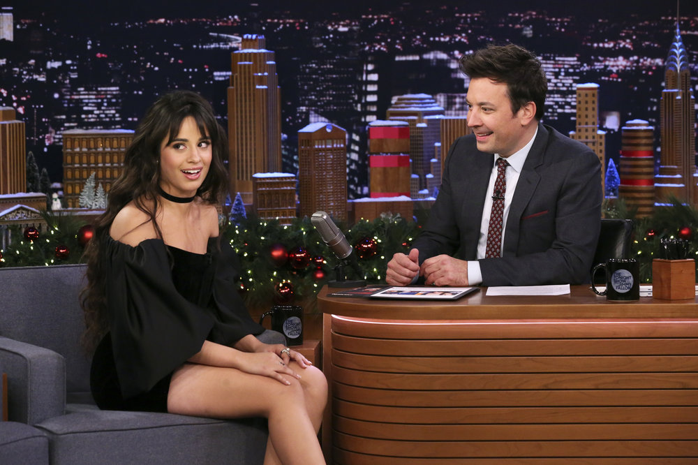 Camila Cabello on the Jimmy Fallon Show - December 5, 2019