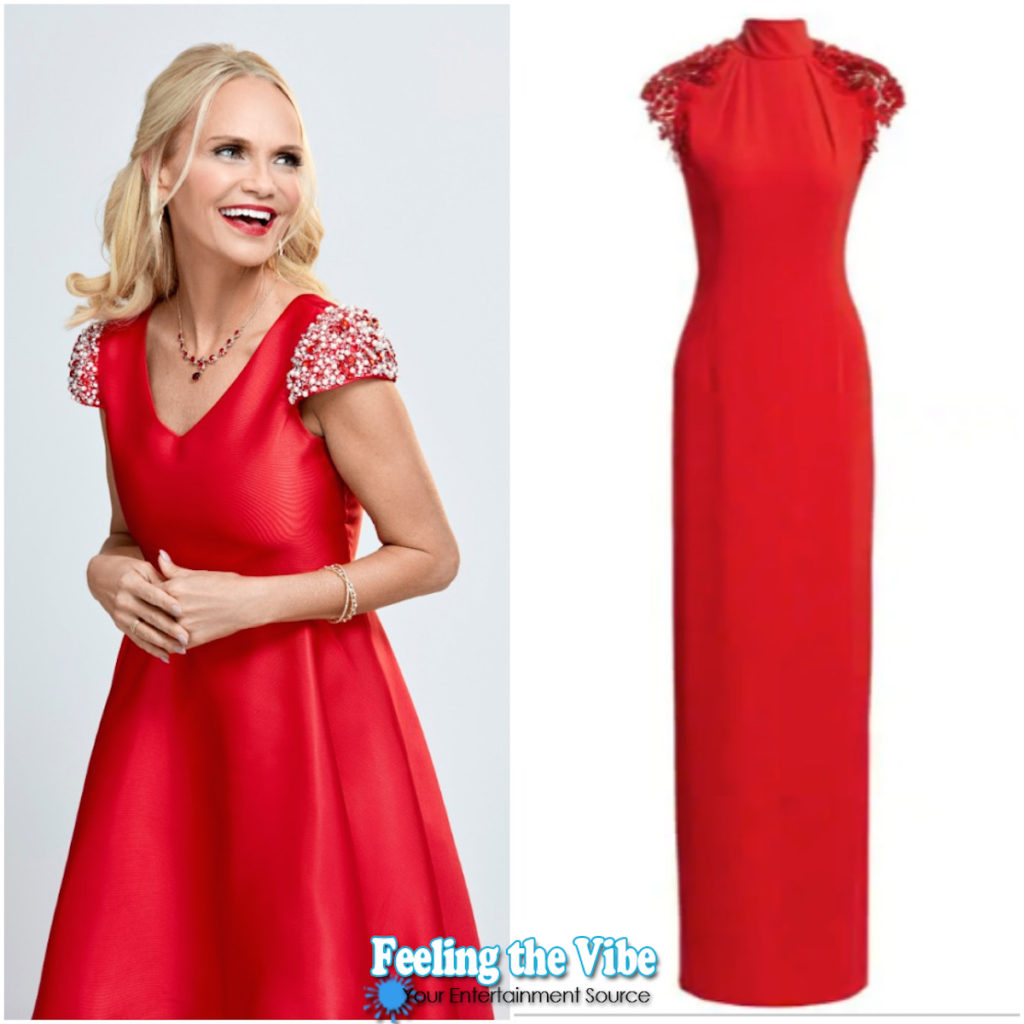 Red dress on Kristin Chenoweth in Christmas Love Story