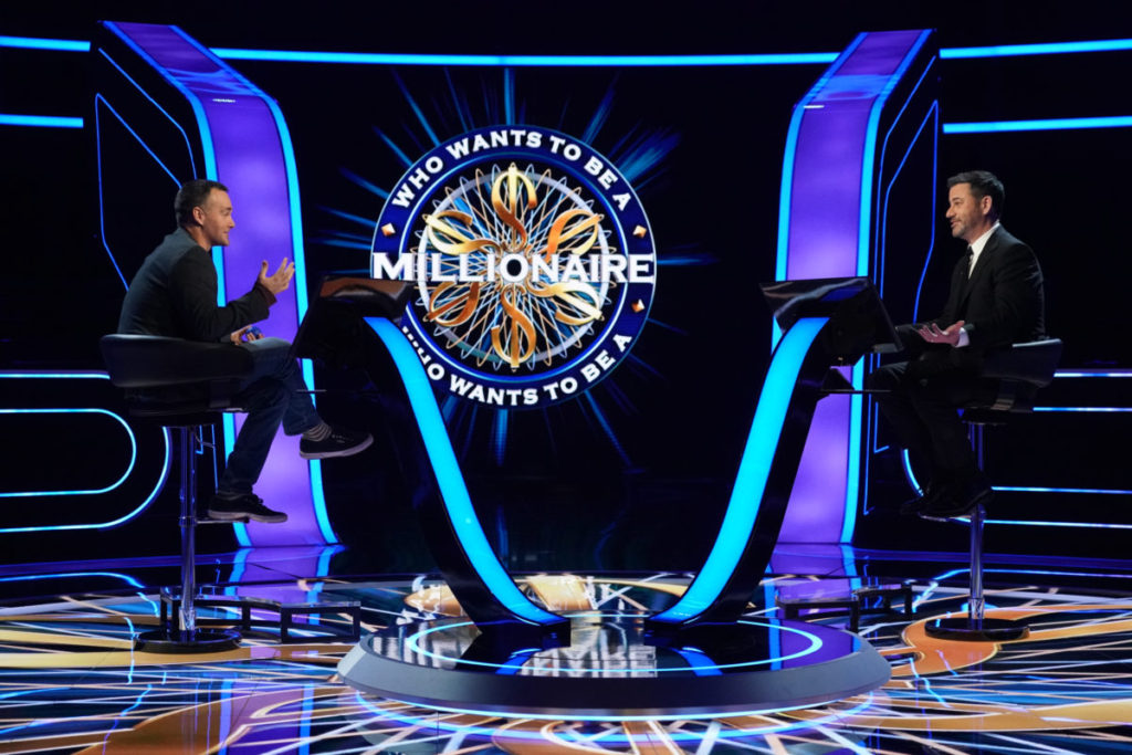Jimmy Kimmel hosts Who Wants to be a Millionaire with contestant Will Forte