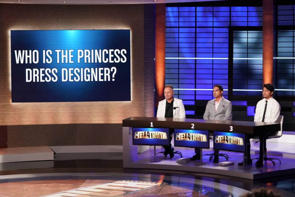 princess dress designer contestants on to tell the truth