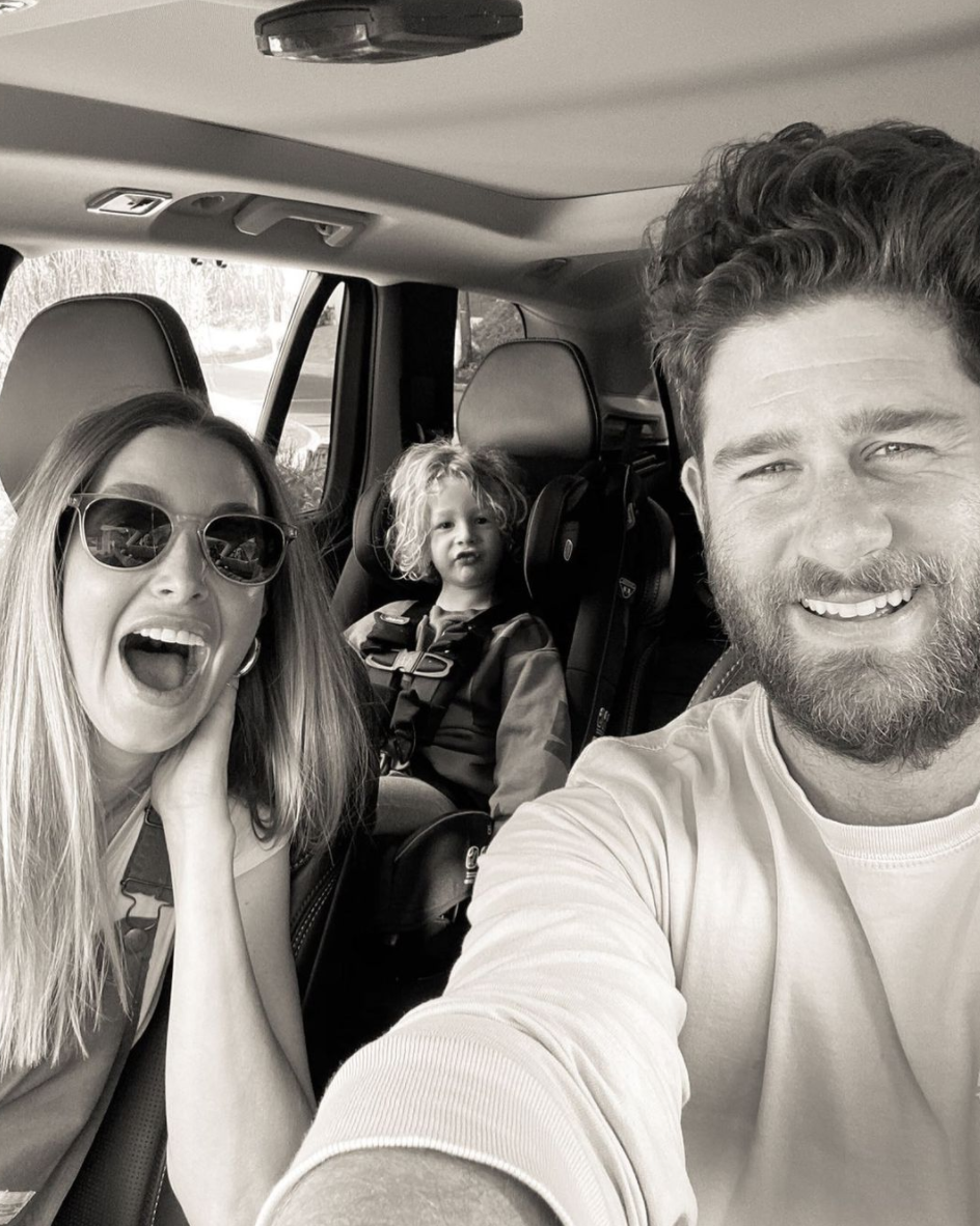 Whitney Port and her husband and child
