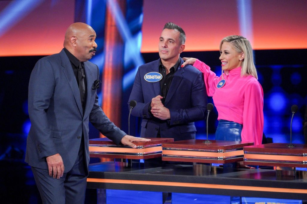 Sebastian Maniscalco vs Jennifer Lewis on 'Celebrity Family Feud'- See Photos!