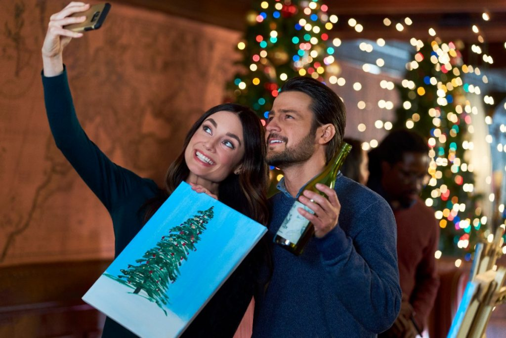 Mallory Jansen and Tyler Hynes in Hallmark's 'On the 12th Date of Christmas.'
