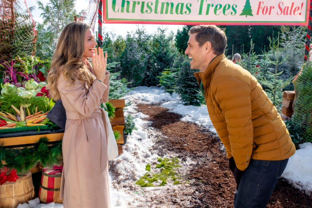 Brooke D'Orsay and Sam Page from A Godwink Christmas Second Chance at First Love