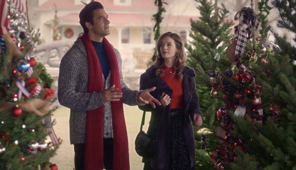 Anni Krueger and Gilles Marini in A Taste of Christmas