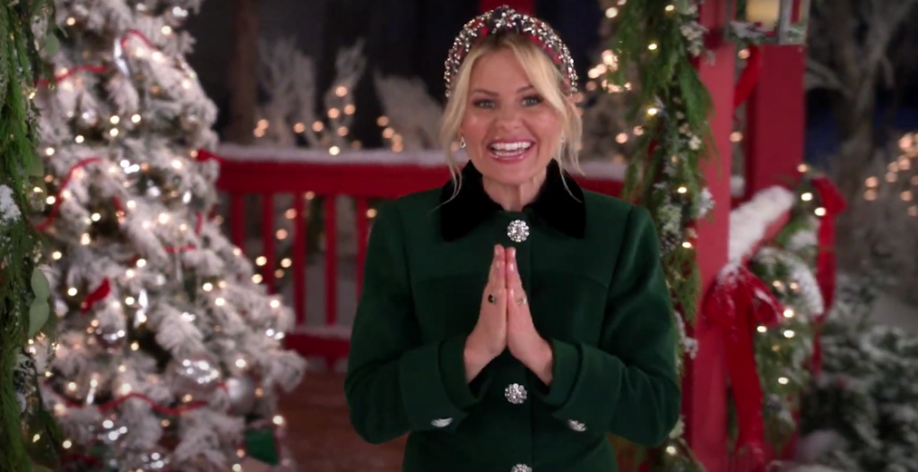 Candace Cameron Bure's Green Coat in Hallmark's 7 Night Thanksgiving Movie Event is Custom Made
