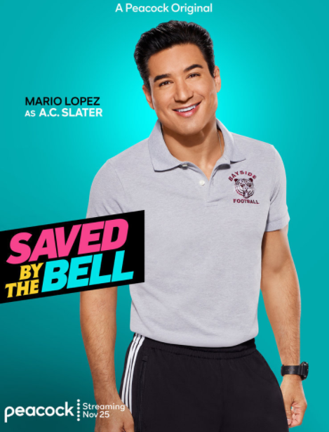 Mario Lopez on Saved by the Bell Peacock