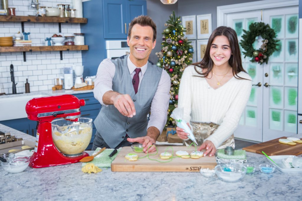 Cameron Mathison's Daughter, Leila Bakes Sugar Cookies With Dad on Home & Family