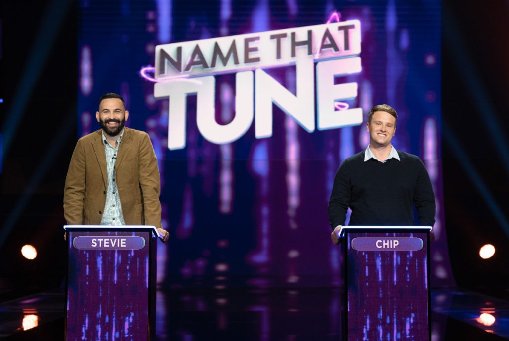 Stevie and Chip on Name That Tune 2021