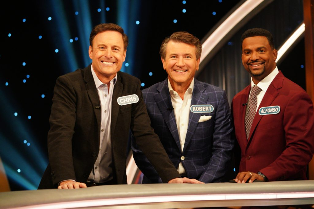 Chris Harrison, Robert Herjavec, and Alfonso Ribeiro on Celebrity Wheel of Fortune