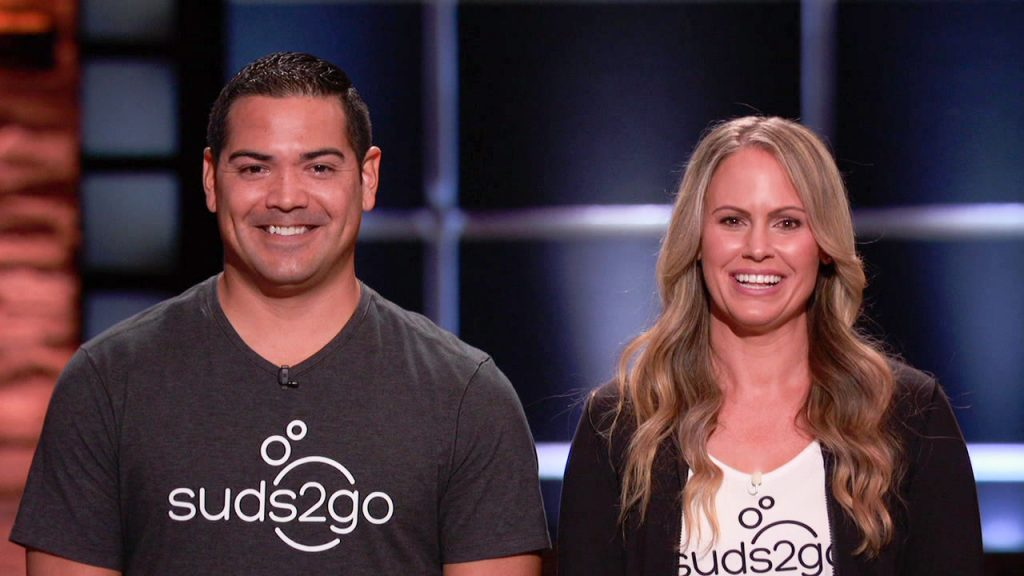 Gabe and Cindy Trevizo from Suds2Go on ABC's Shark Tank